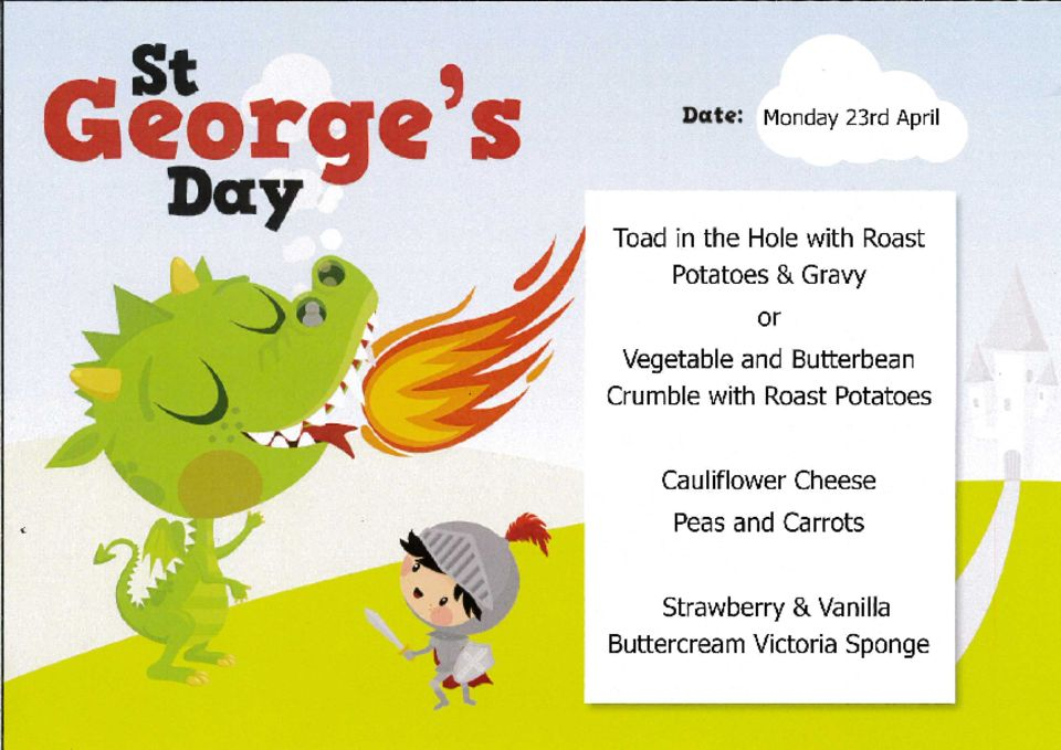 thumbnail of St Georges Day Menu