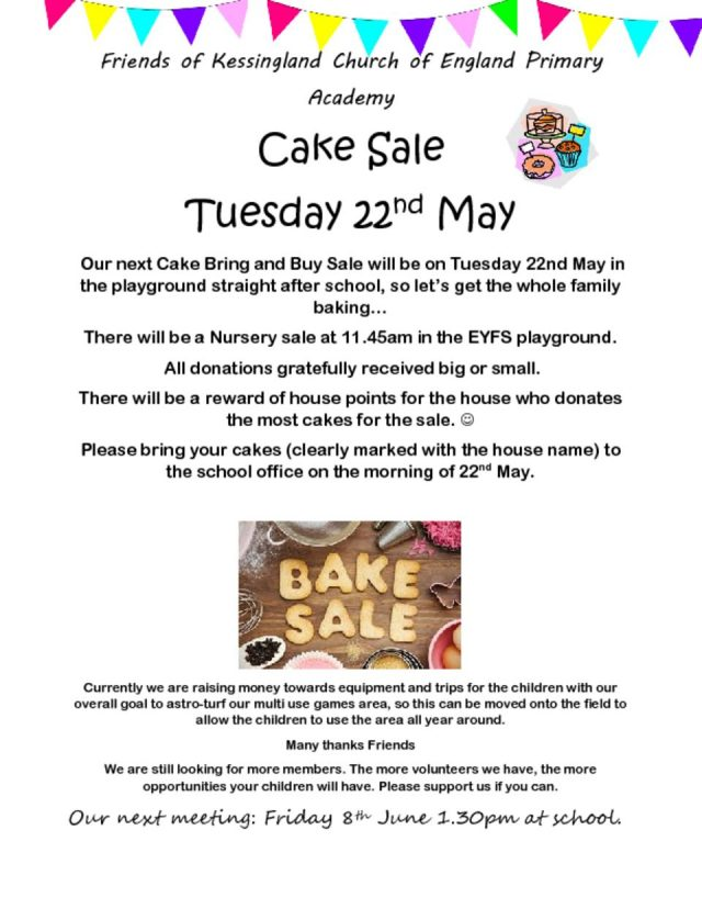 thumbnail of Cake Sale 22nd May