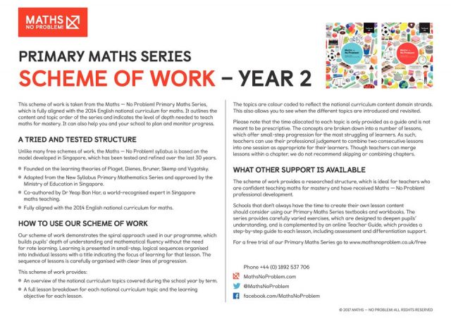 thumbnail of Maths No Problem_Scheme of Work_YEAR 2