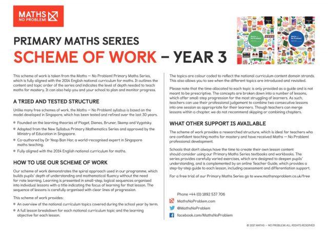 thumbnail of Maths No Problem_Scheme of Work_YEAR 3
