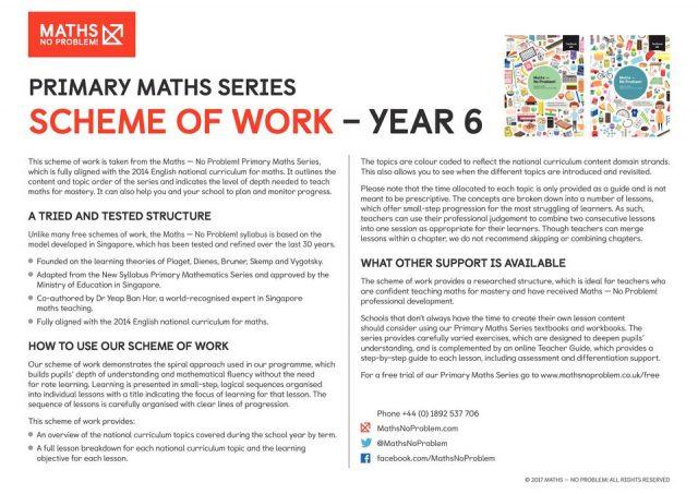 thumbnail of maths No Problem_Scheme of Work_YEAR 6