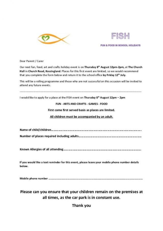 thumbnail of FISH Parent Letter August