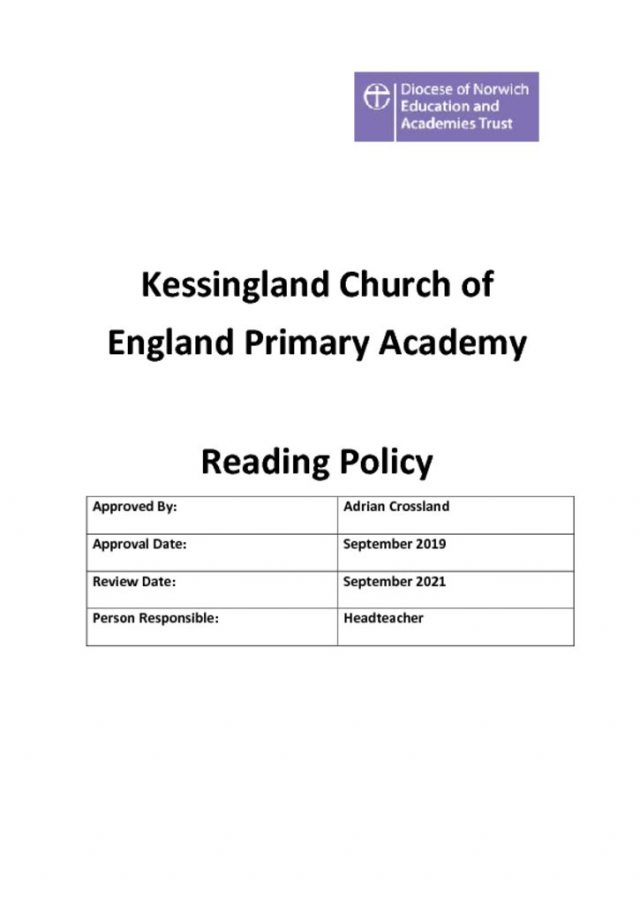 thumbnail of Reading Policy 2019